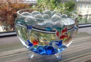 金魚鉢,ガラスの金魚,ガラス