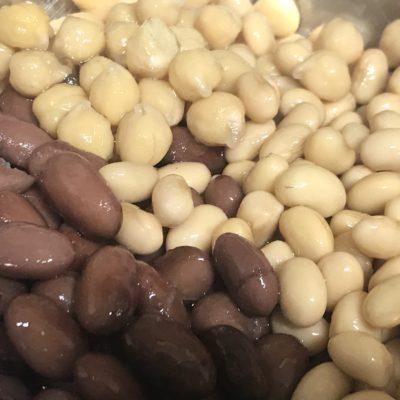 お豆のサラダ,金時豆,ひよこ豆,ヒヨコ豆