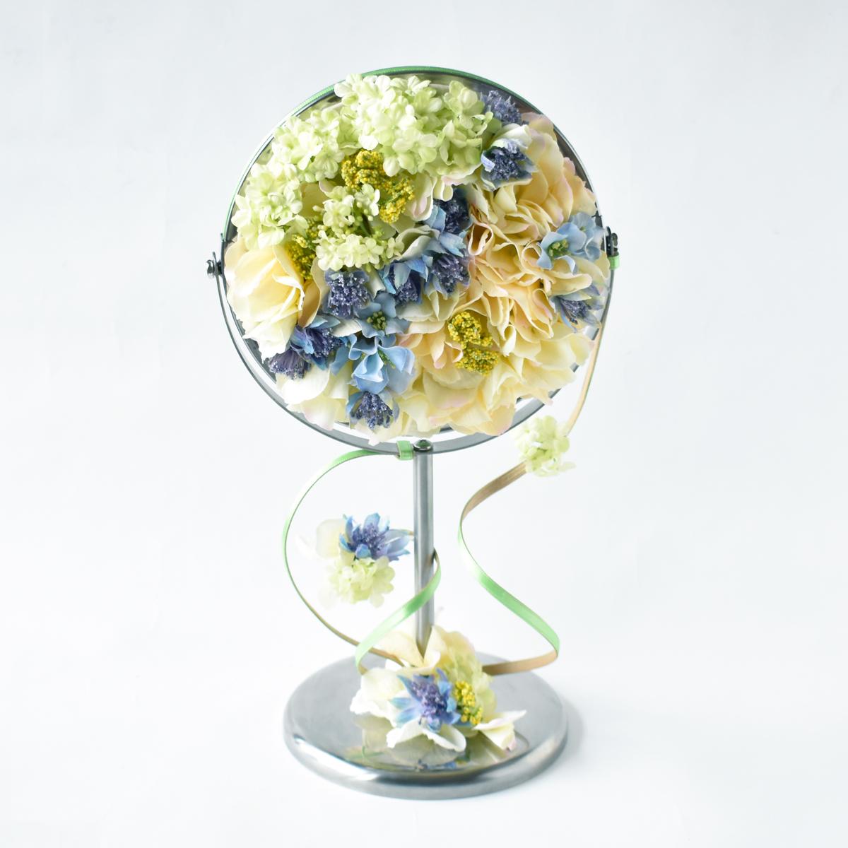 お花のスタンドミラーss