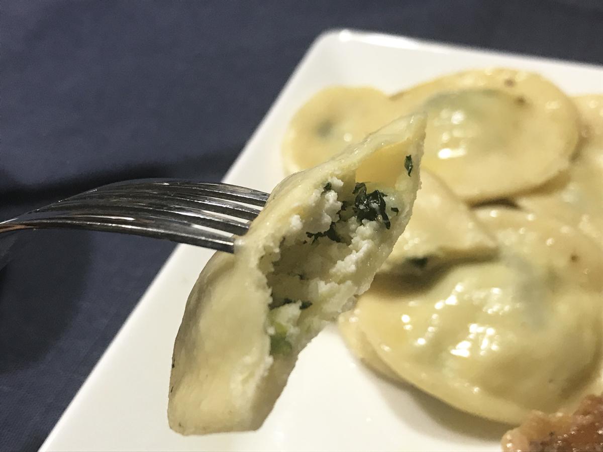 リコッターチーズ,ラビオリ