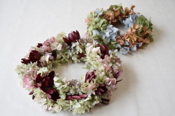 フリーレッスン,プリザーブドフラワー,紫陽花