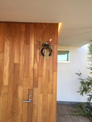 お正月飾り、玄関