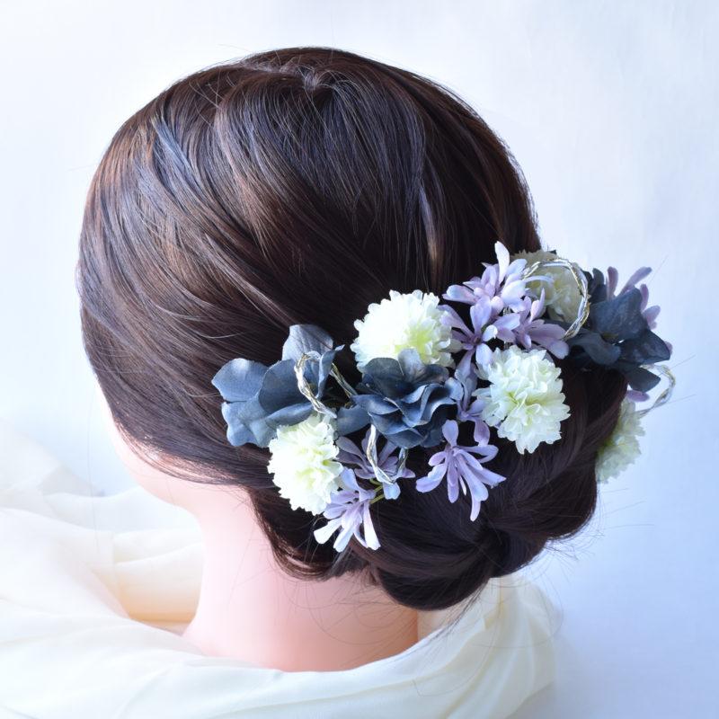 菊,紫陽花,髪飾り,ヘッドドレス
